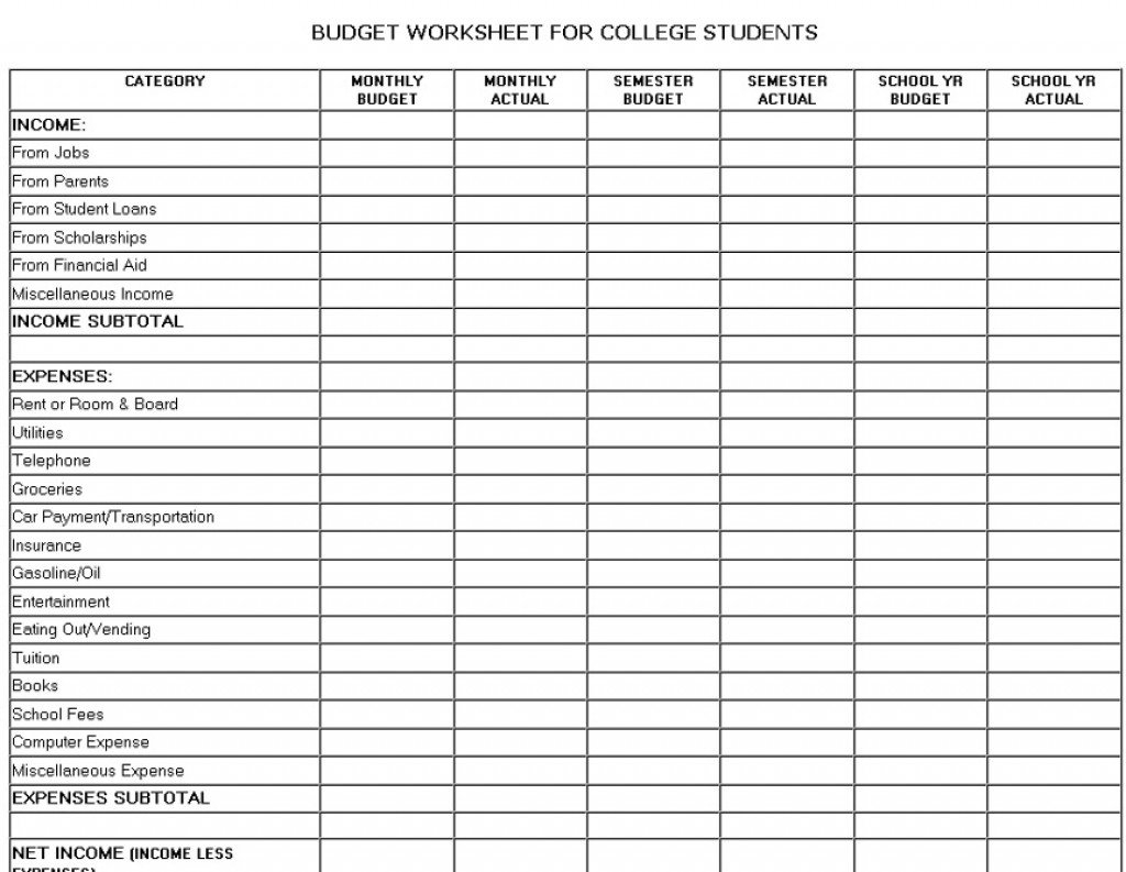 Budgeting For University Spreadsheet Inside Budget Money