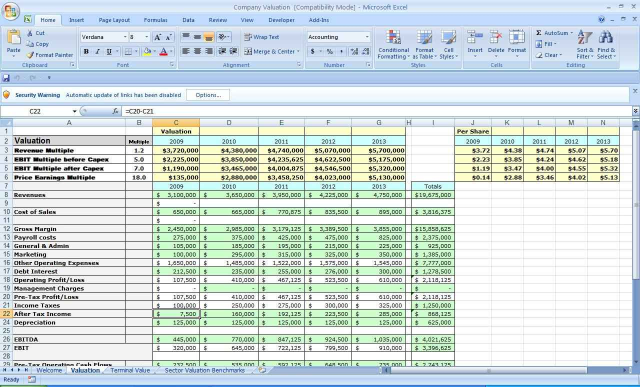Business Plan Spreadsheet Template Excel Throughout