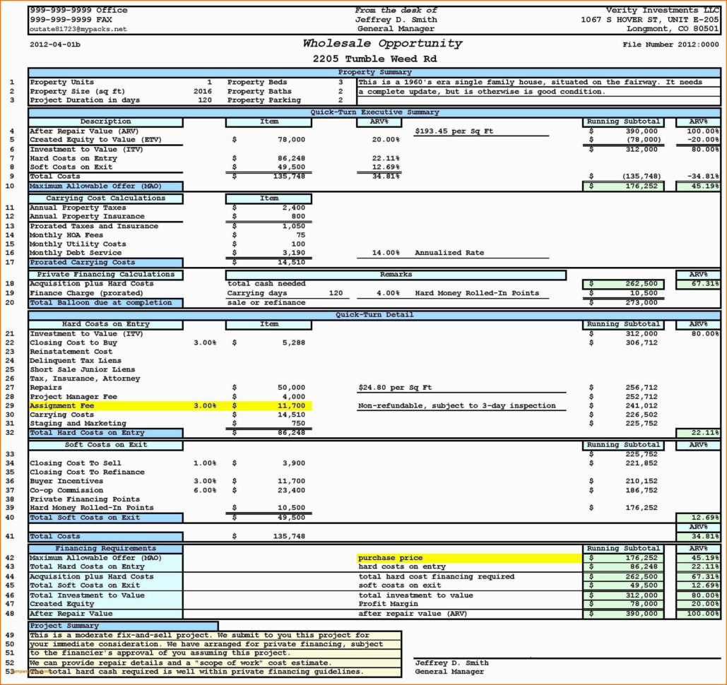Cam Charges Spreadsheet With Inventory Reconciliation
