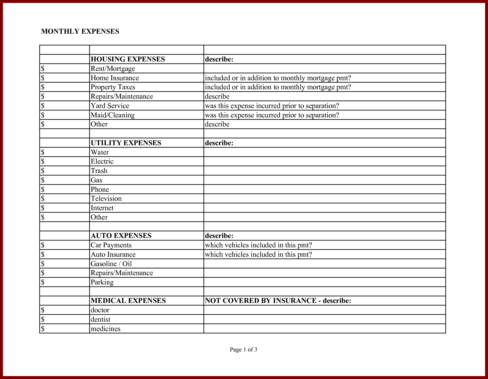 Car Expenses Excel Spreadsheet With Regard To Sample