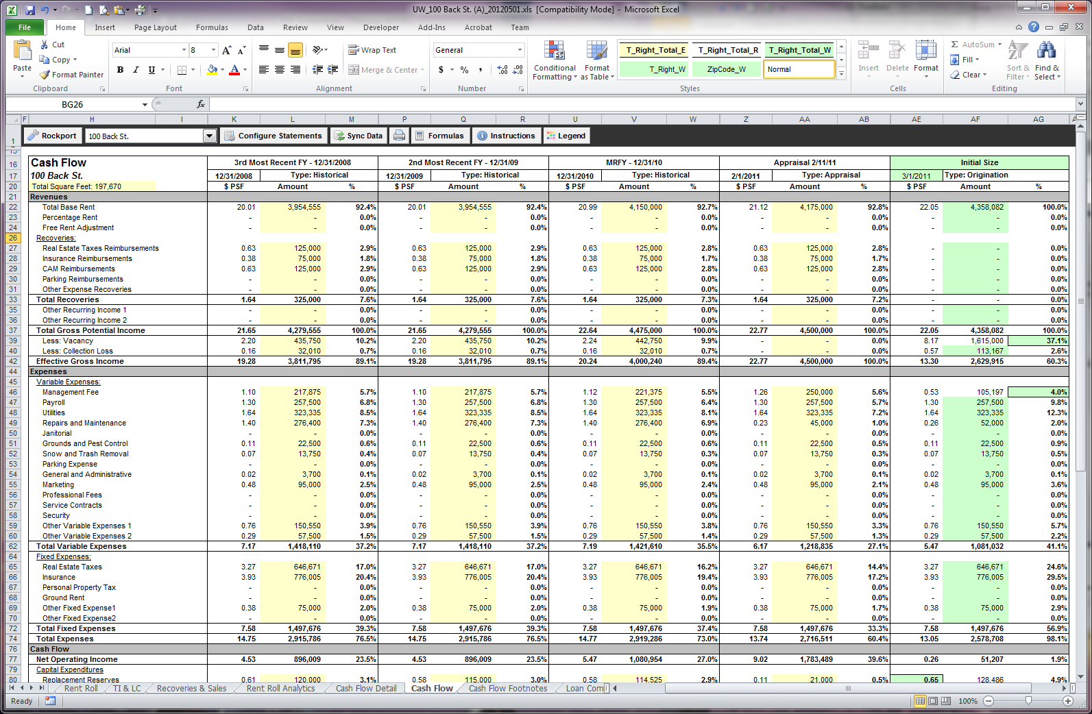 Global Cash Flow Worksheet Excel