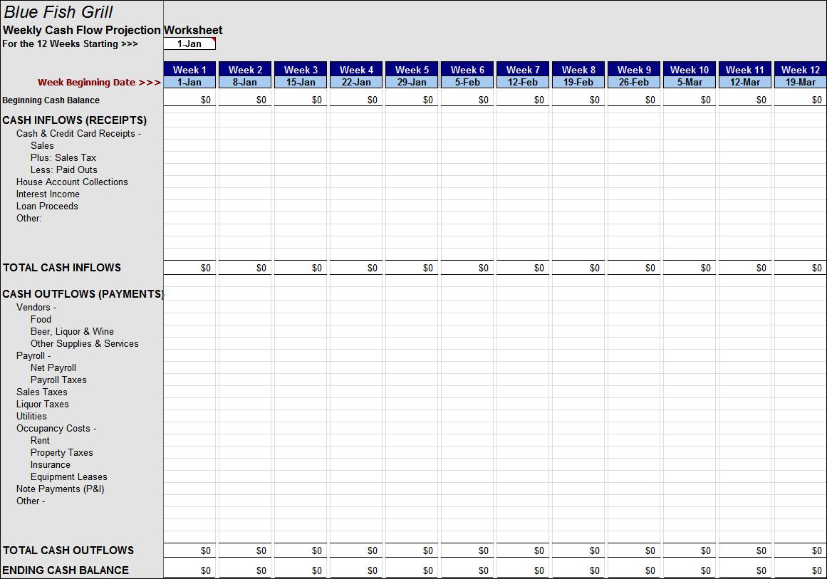 Cash Flow Spreadsheet Download Spreadshee Anz Cash