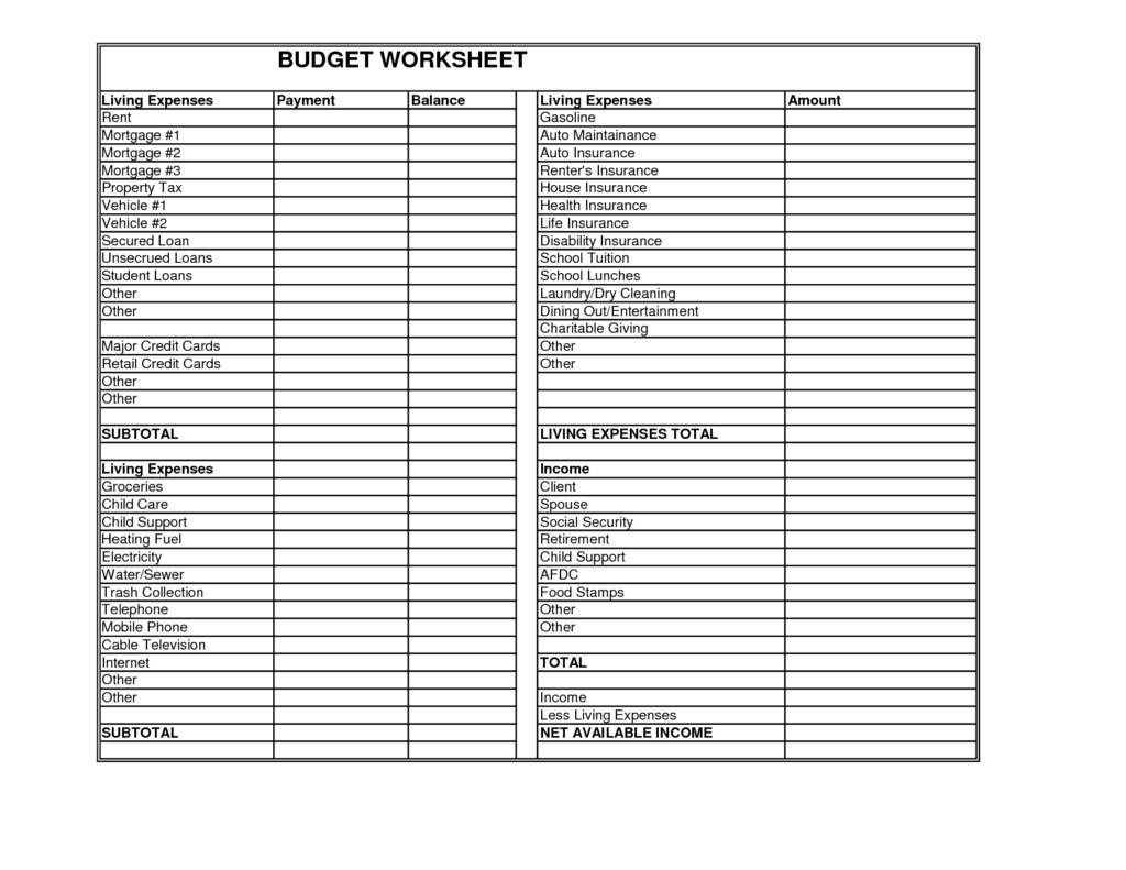 Child Expenses Spreadsheet Spreadsheet Downloa Child