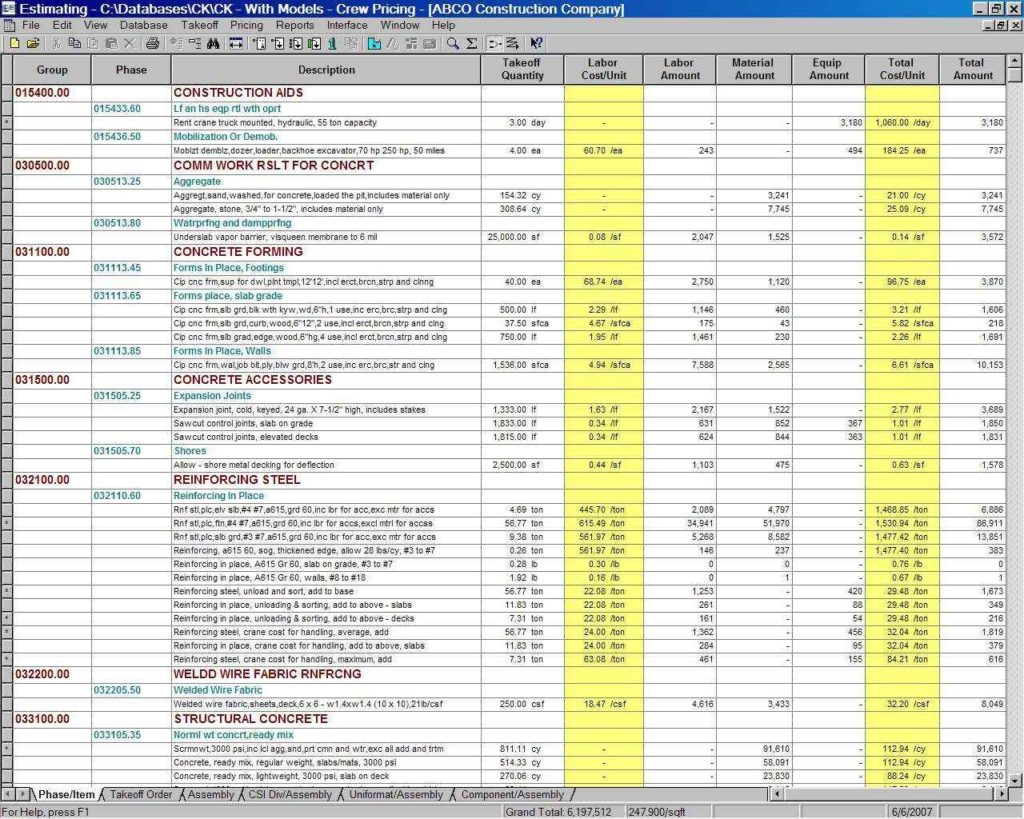 Construction Project Management Spreadsheet For Excel