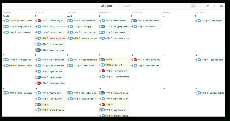 Content Calendar Spreadsheet In The Best Content