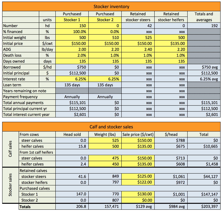 Cow Calf Budget Spreadsheet Spreadshee Cow Calf