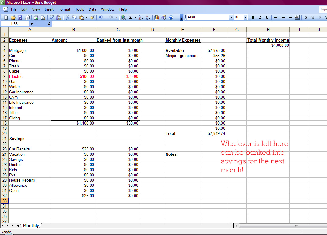 Create A Spreadsheet For Bills