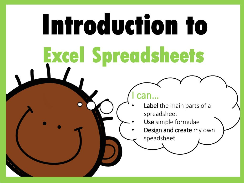 Create My Own Spreadsheet With Regard To Introduction To