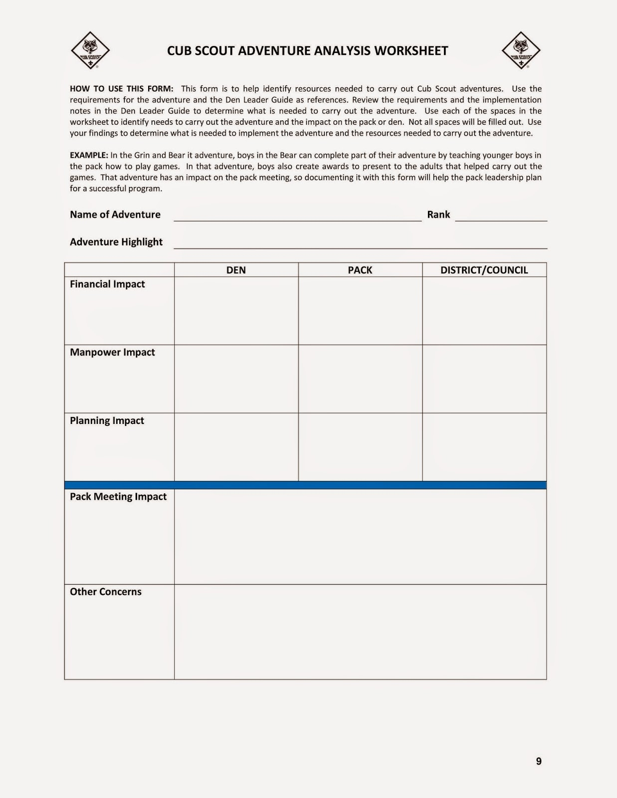 Cub Scout Treasurer Spreadsheet 1 Printable Spreadshee Cub