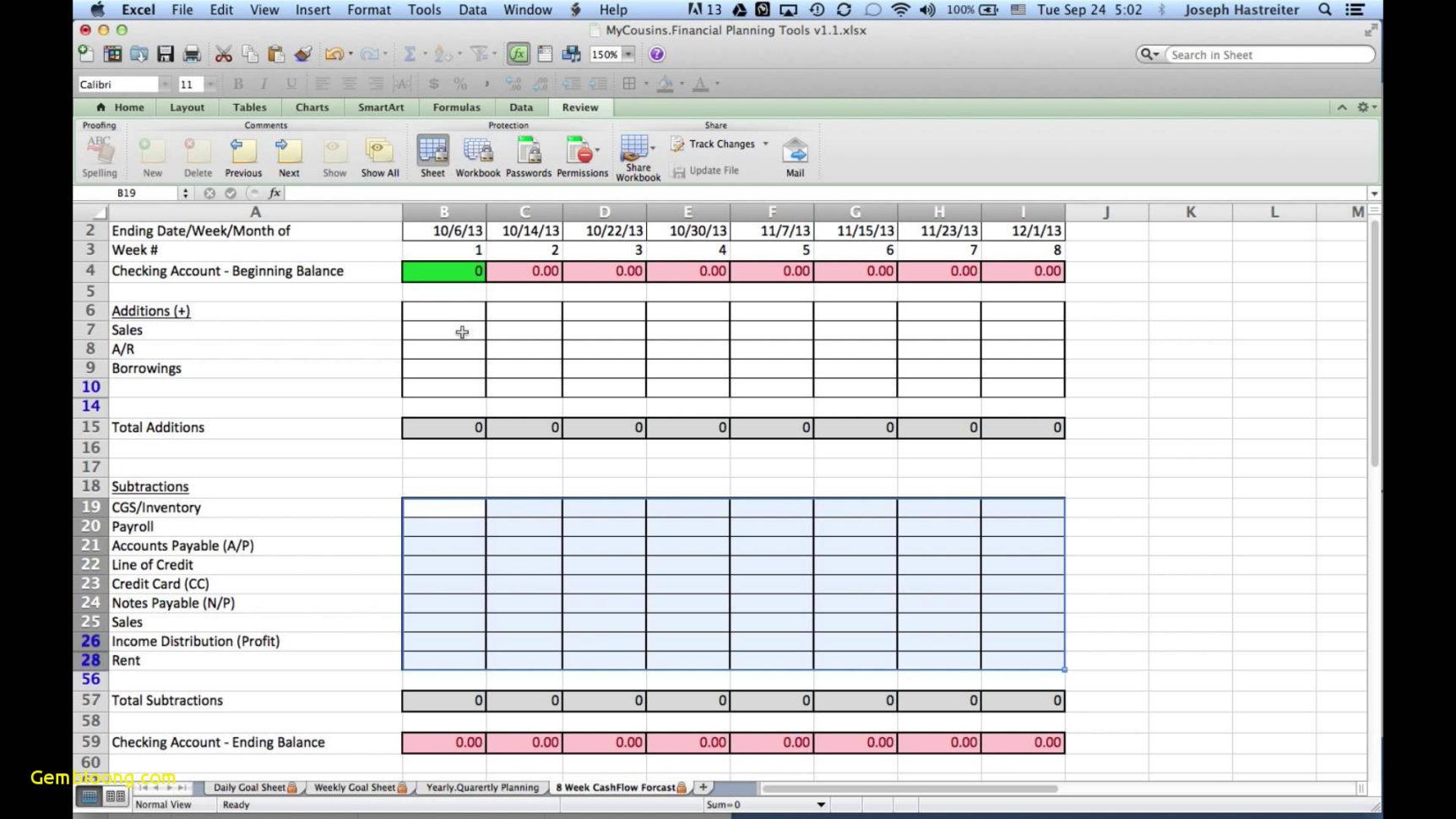 Wedding Budget Planner Spreadsheet Wedding Budget Planner