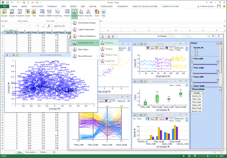Data Mining Spreadsheets Regarding Frontline Systems