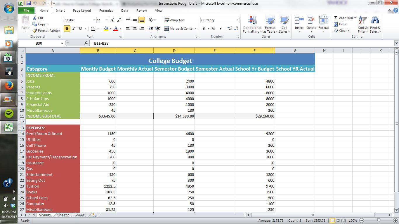 Design A Budget Spreadsheet In How To Prepare Budget In