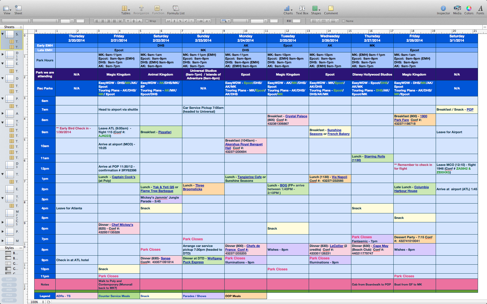 Disney Planning Spreadsheet Download Payment Spreadshee