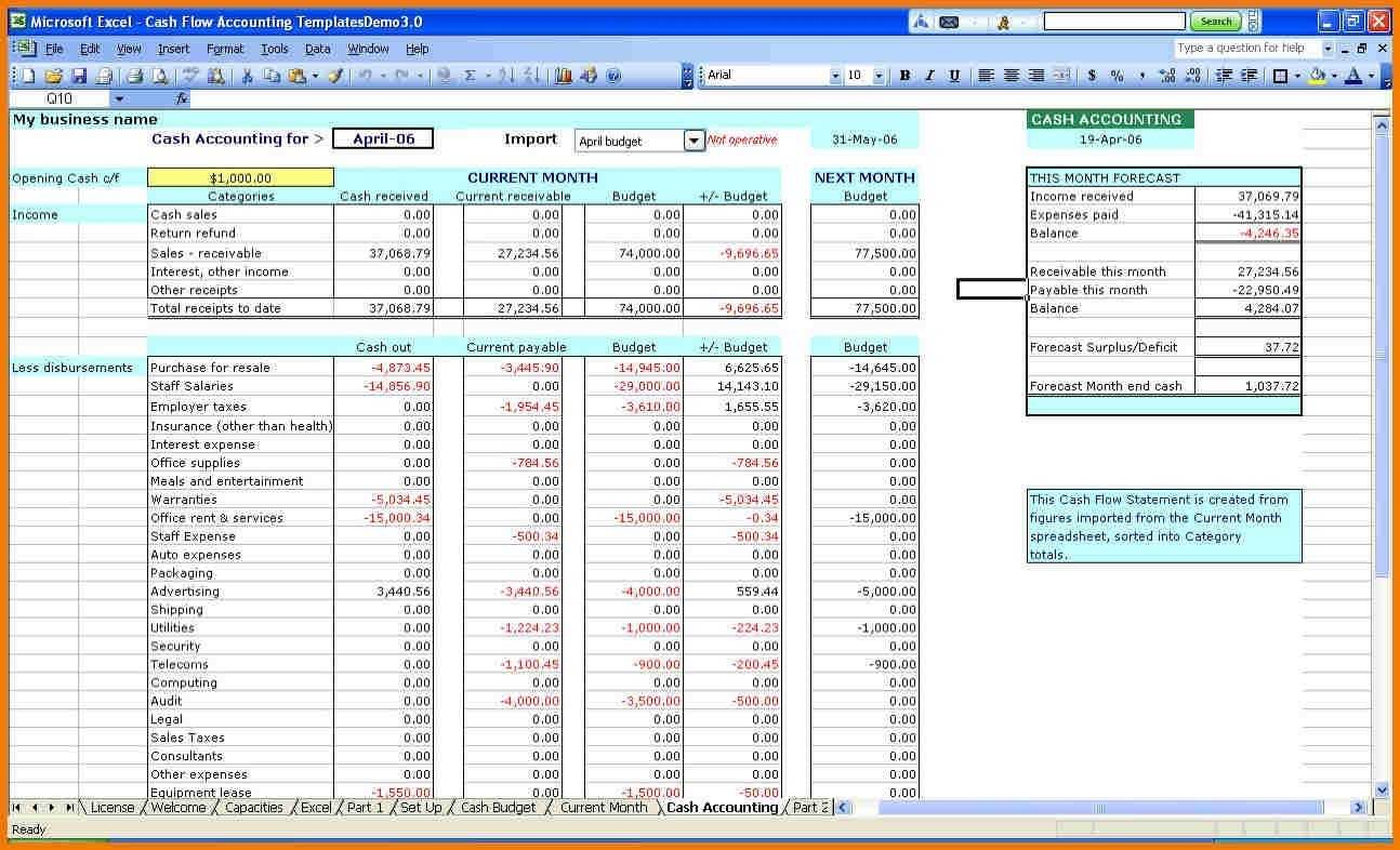 Easy Accounting Spreadsheet For Accounting Spreadsheet