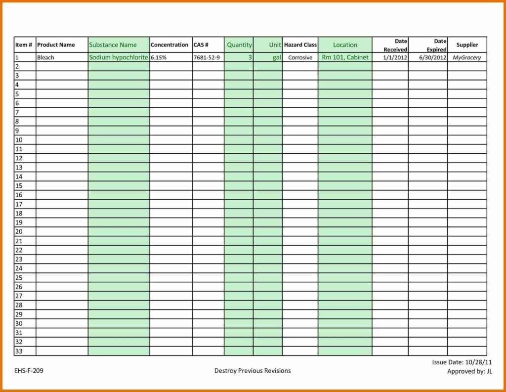 Easy Inventory Spreadsheet Spreadshee Basic