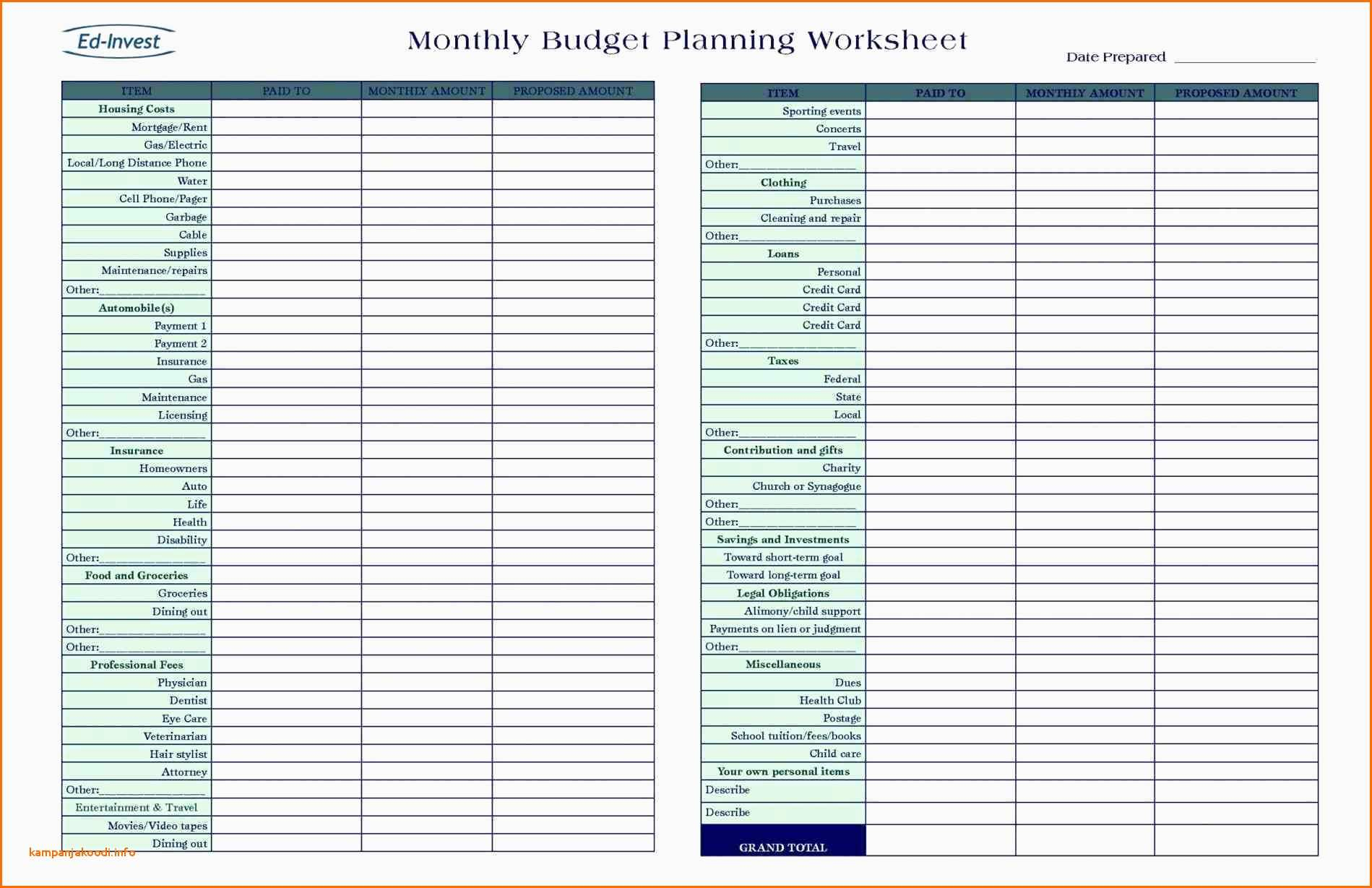 Easy Spreadsheet For Monthly Bills Spreadshee Easy