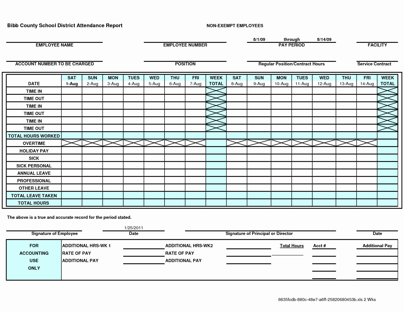 Employee Attendance Spreadsheet Template Spreadsheet