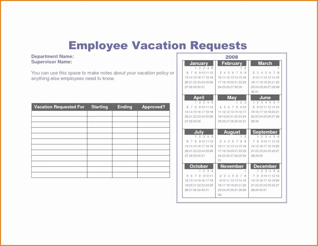 Employee Pto Tracking Spreadsheet Within Vacation Tracking