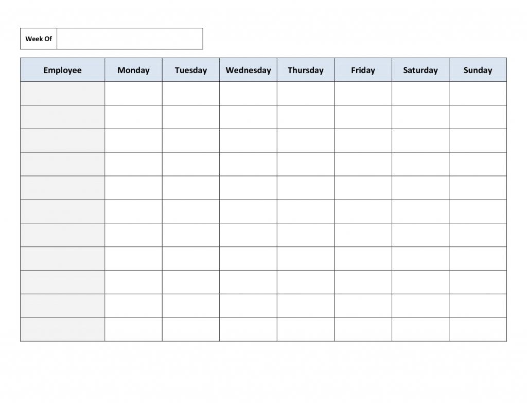 Employee Schedule Spreadsheet Template Inside Employee