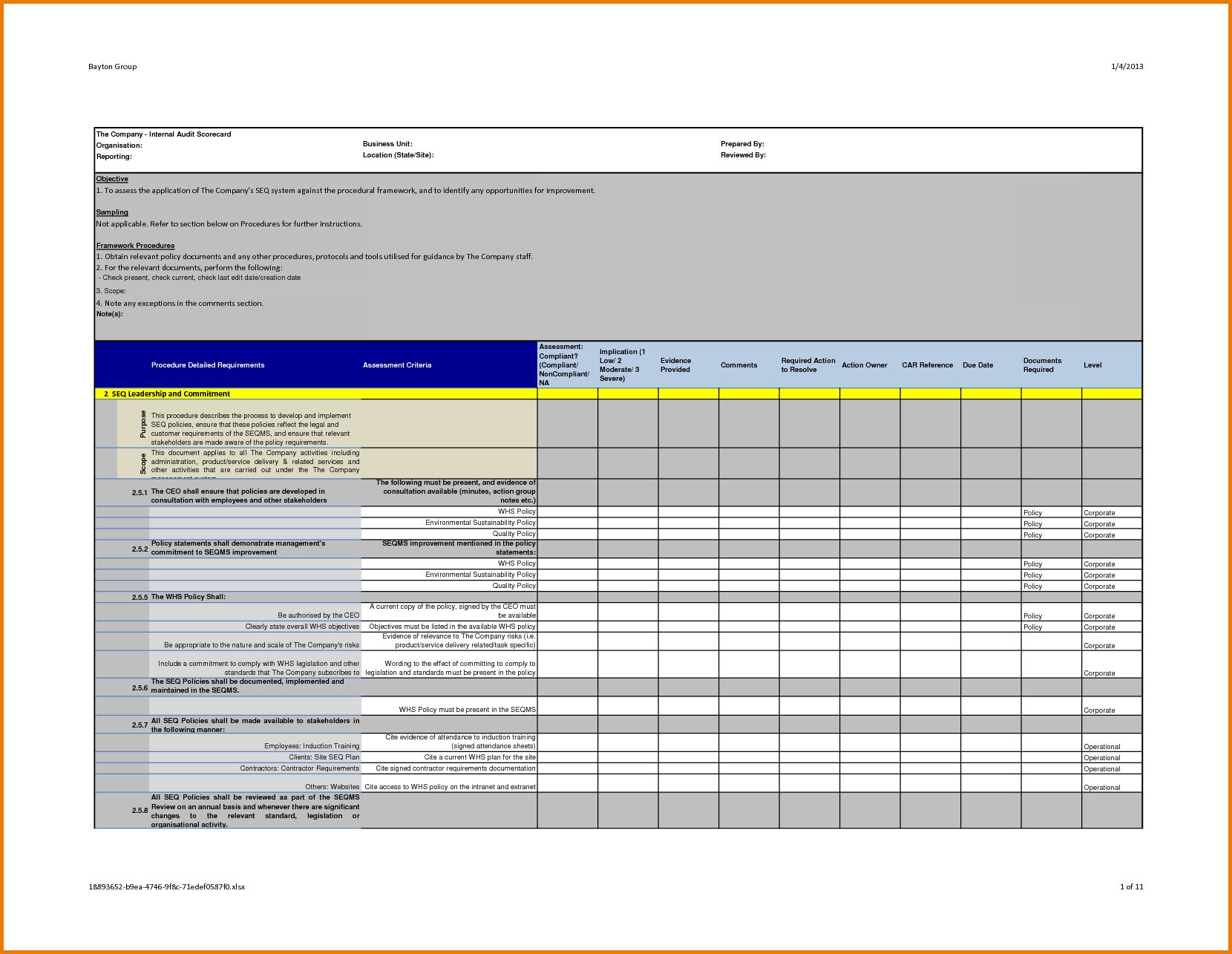 Energy Audit Excel Spreadsheet Spreadshee Energy