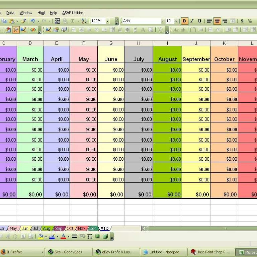 Example Of Excel Expense Spreadsheet Within Samples Of