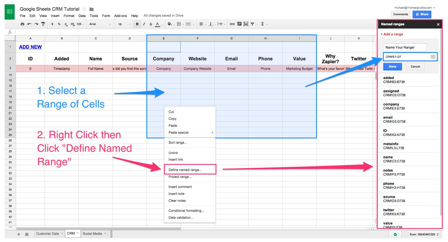 Excel Crm Spreadsheet