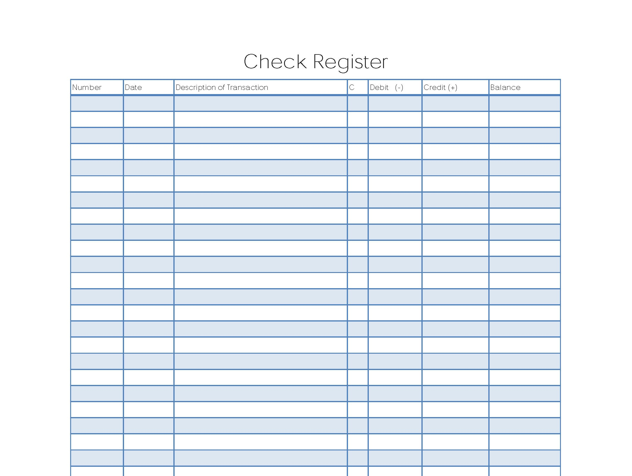 Excel Spreadsheet Check Register Pertaining To Check