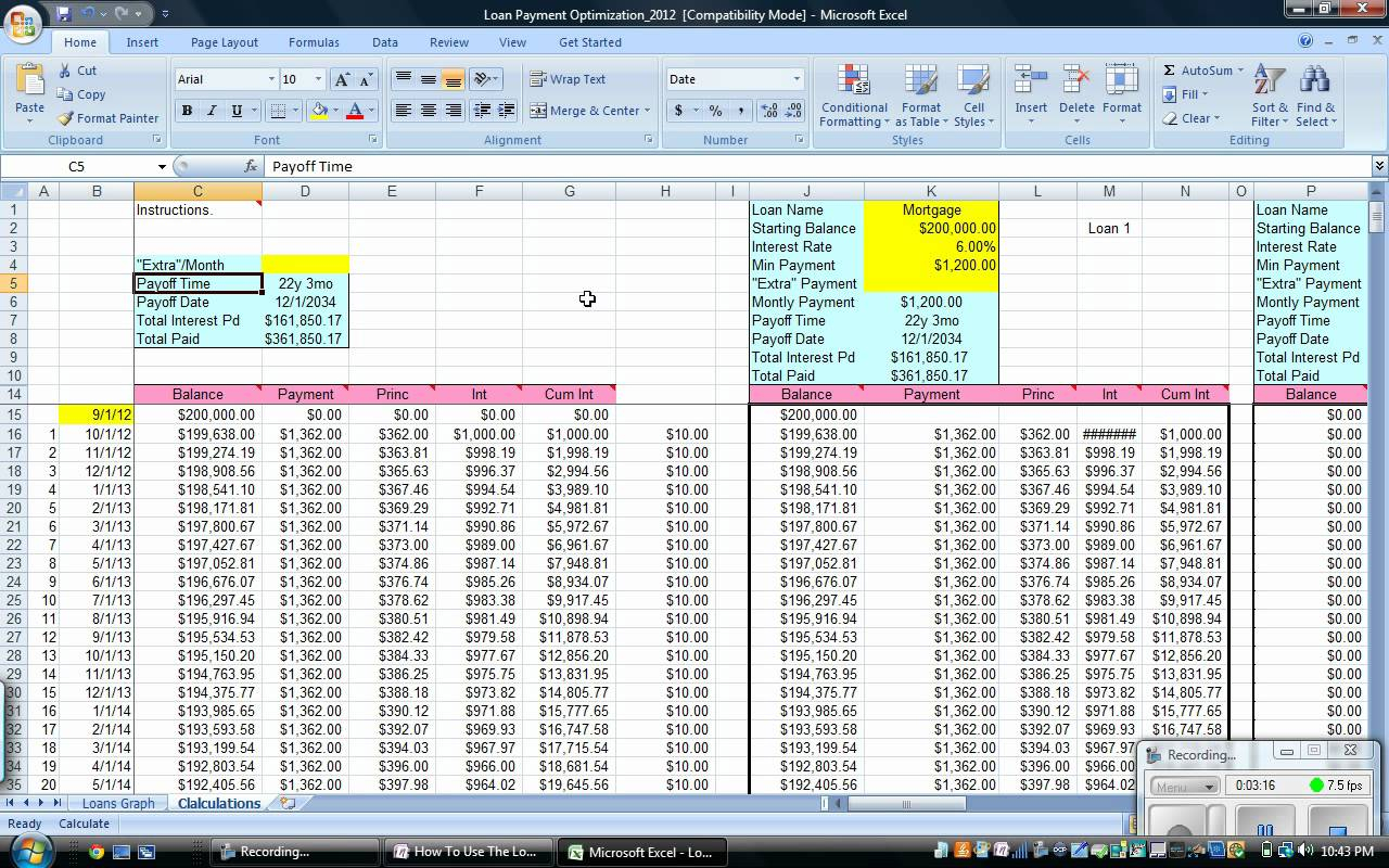 Excel Spreadsheet For Loan Repayments Spreadsheet Downloa Excel Spreadsheet Loan Repayment
