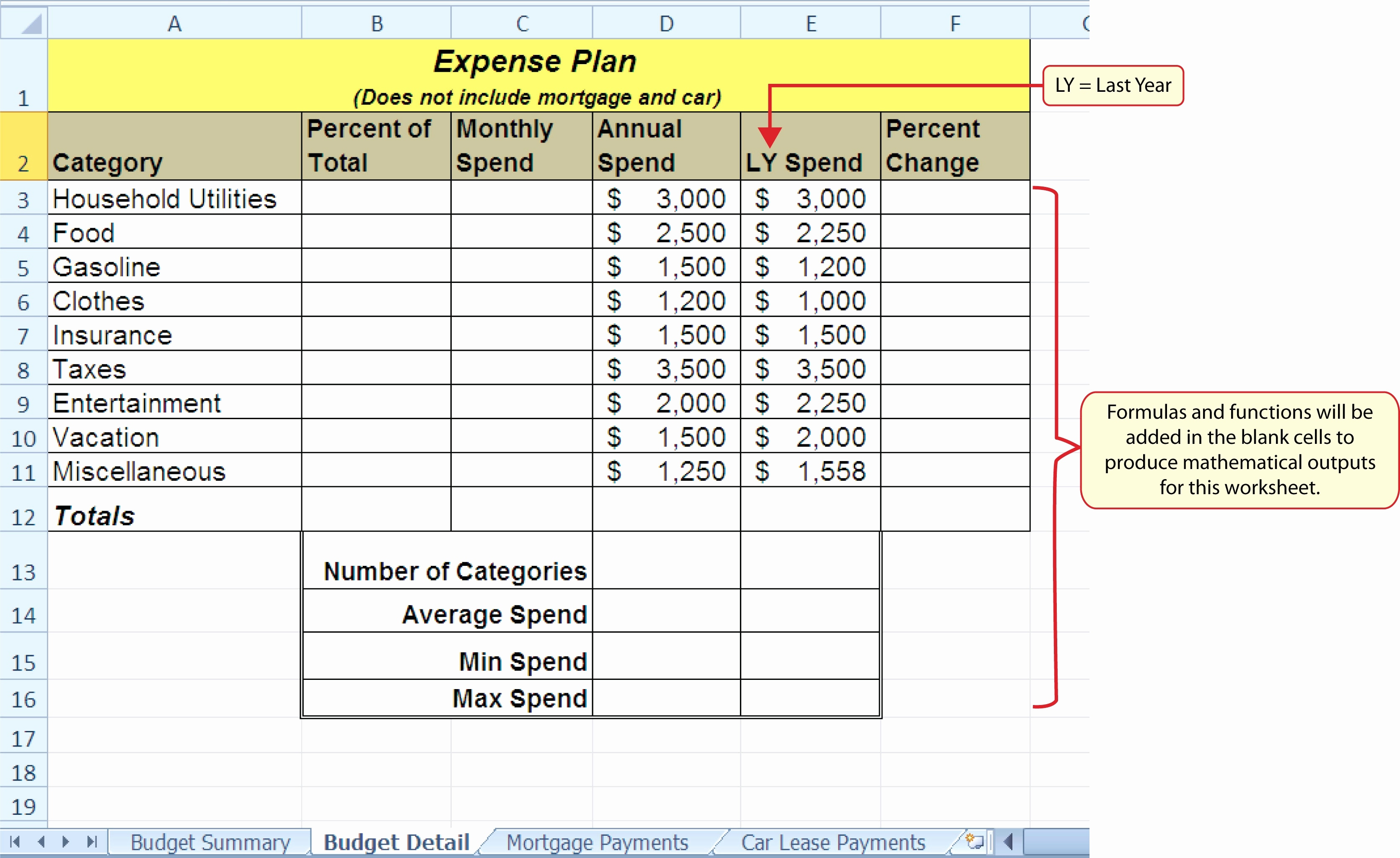 Excel Spreadsheet Instructions Throughout Microsoft Excel