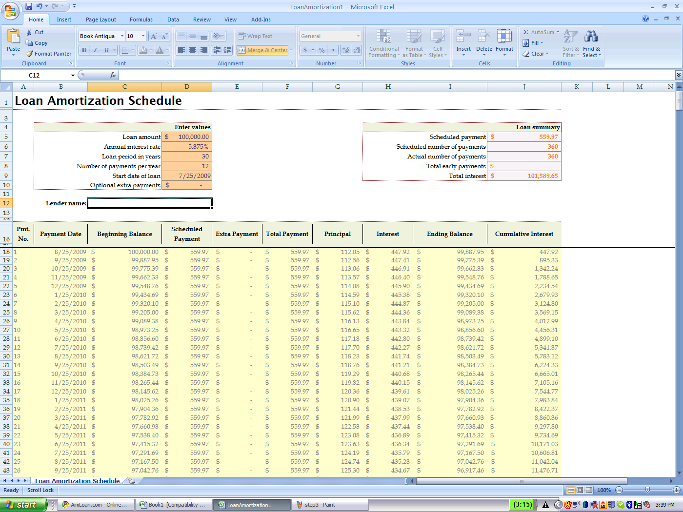 Excel Spreadsheet Mortgage Calculator With Loan Benefit