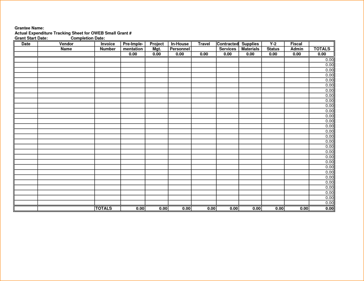 Business Monthly Budget Spreadsheet Template Business