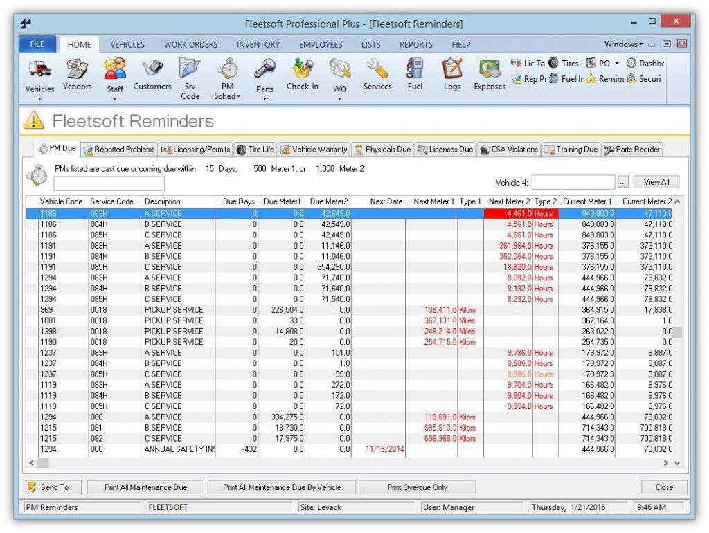 Fleet Inventory Spreadsheet In Fleet Maintenance