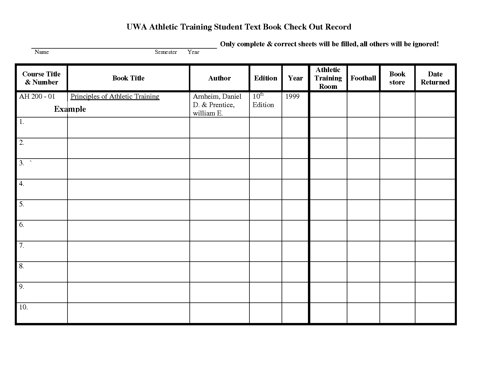 Football Equipment Inventory Spreadsheet With Check In