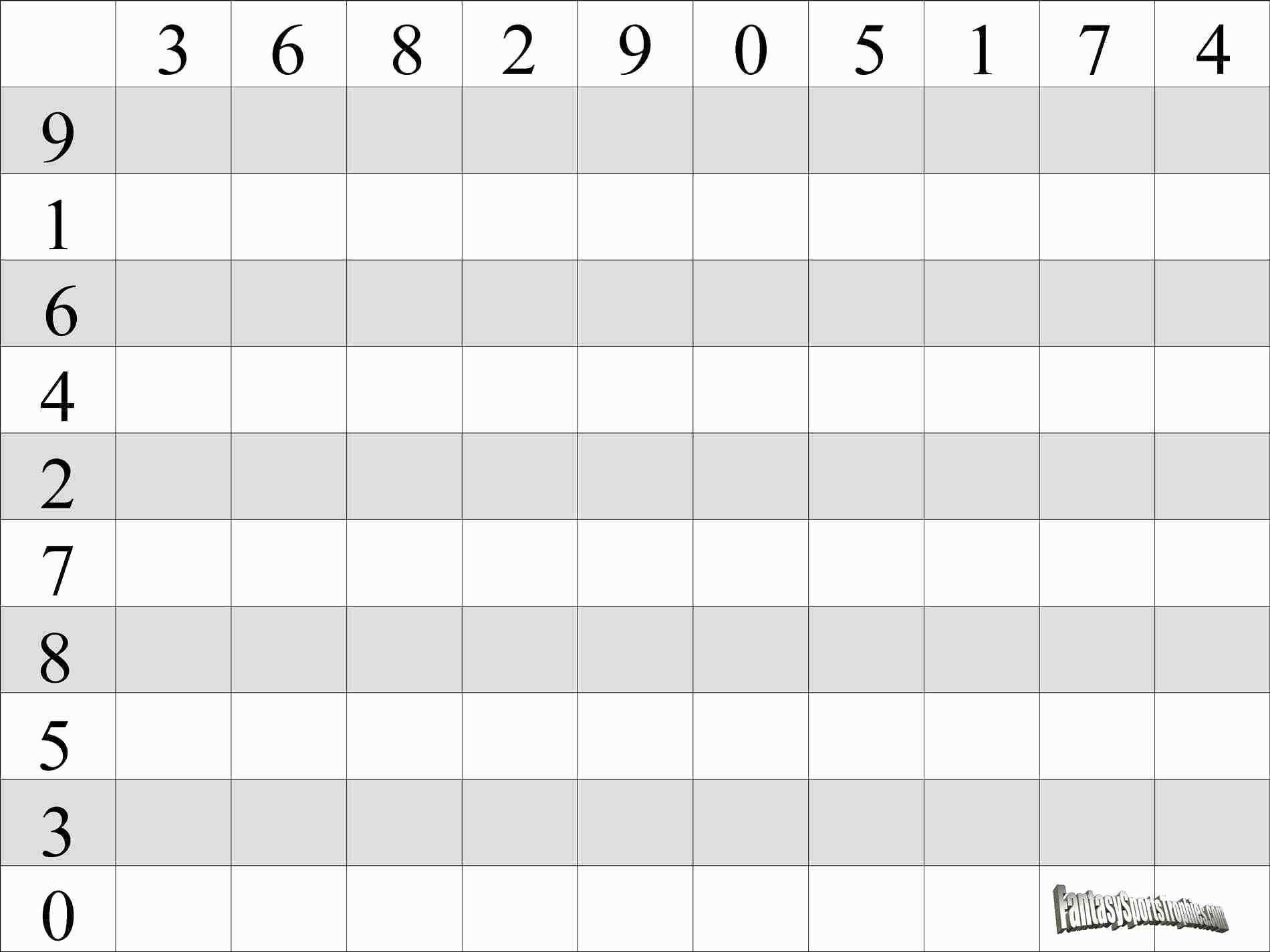 Football Spreadsheet Pertaining To Football Squares