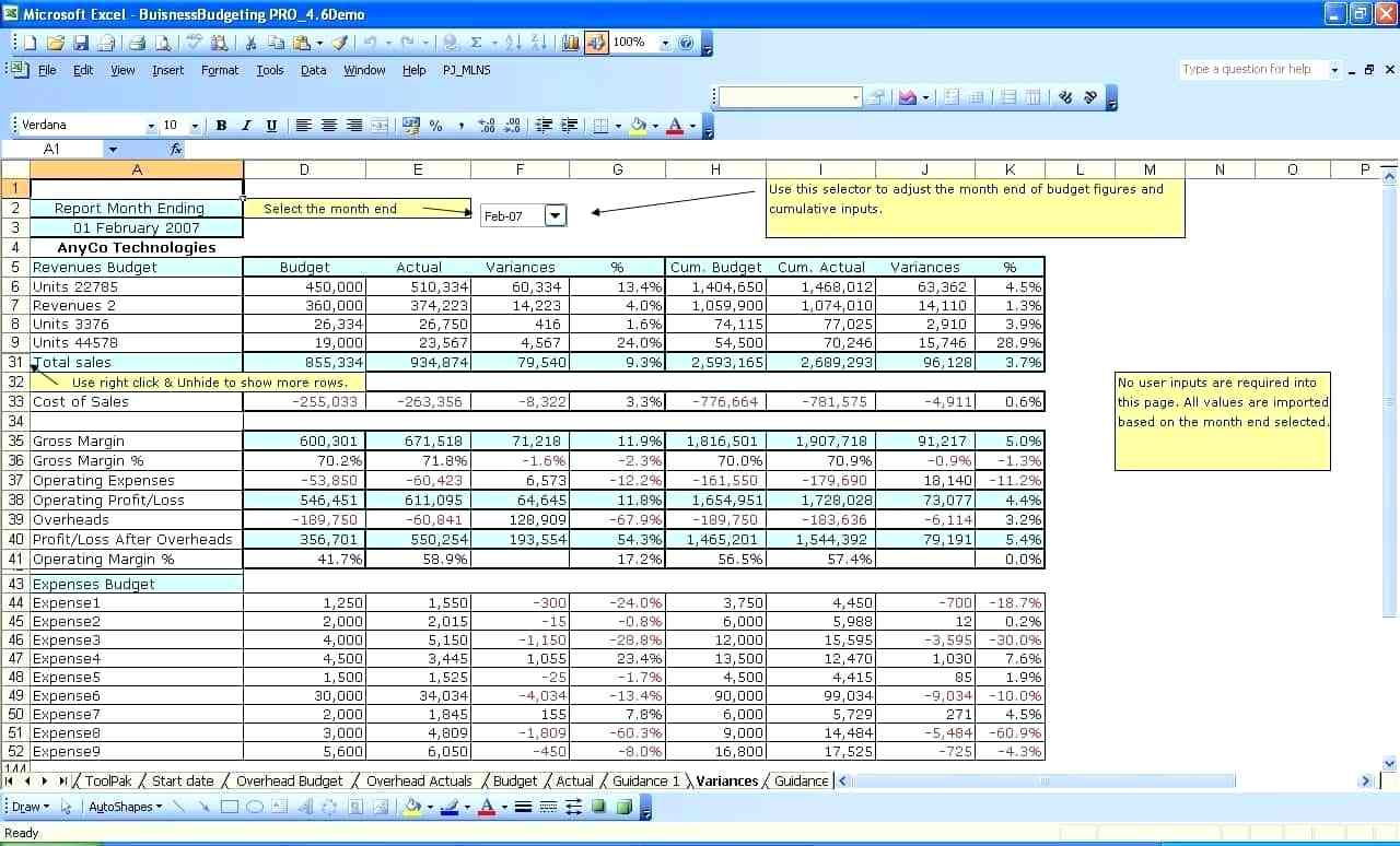Free Accounting Spreadsheet For Small Business Within Free