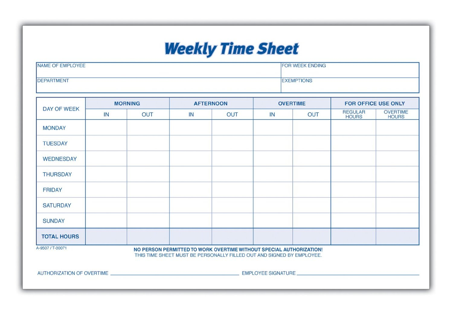 Free Employee Time Tracking Spreadsheet In Employee