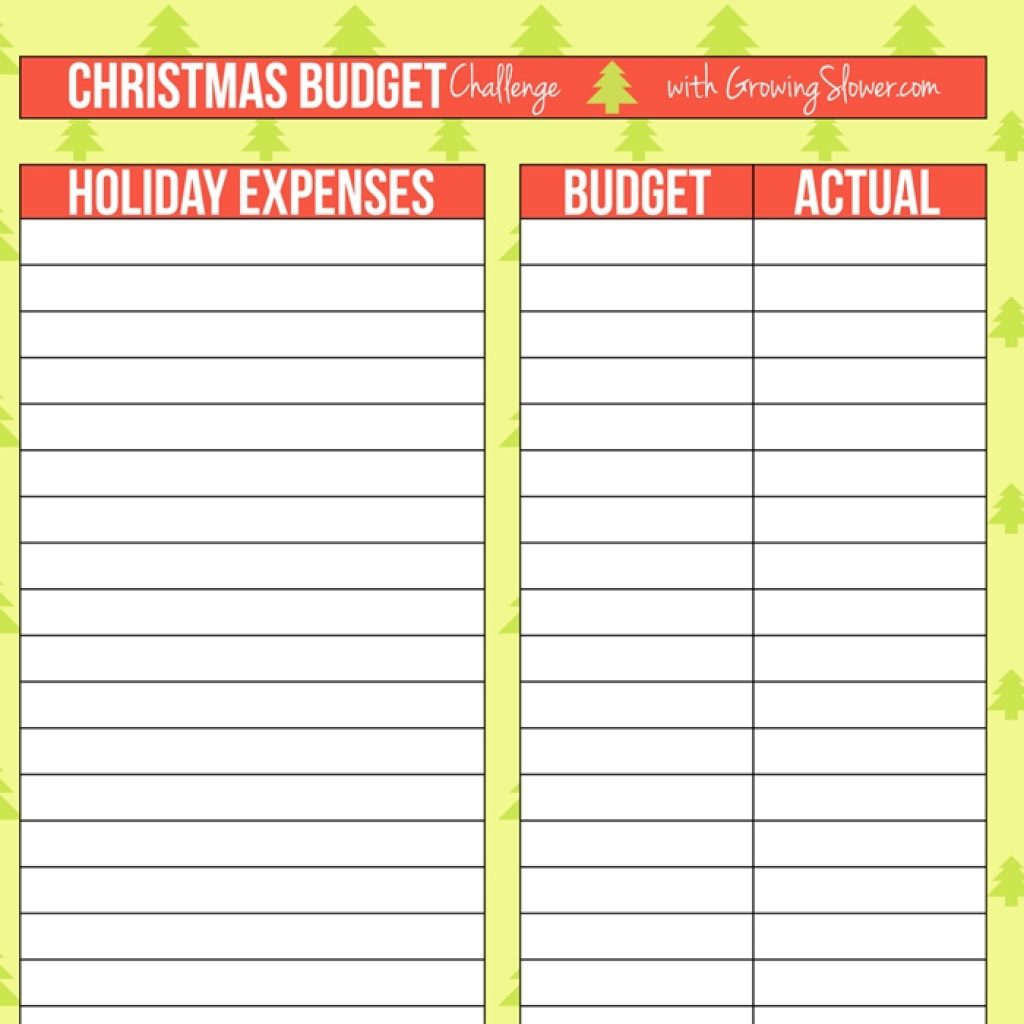 Free Printable Spreadsheet Intended For Christmas Budget