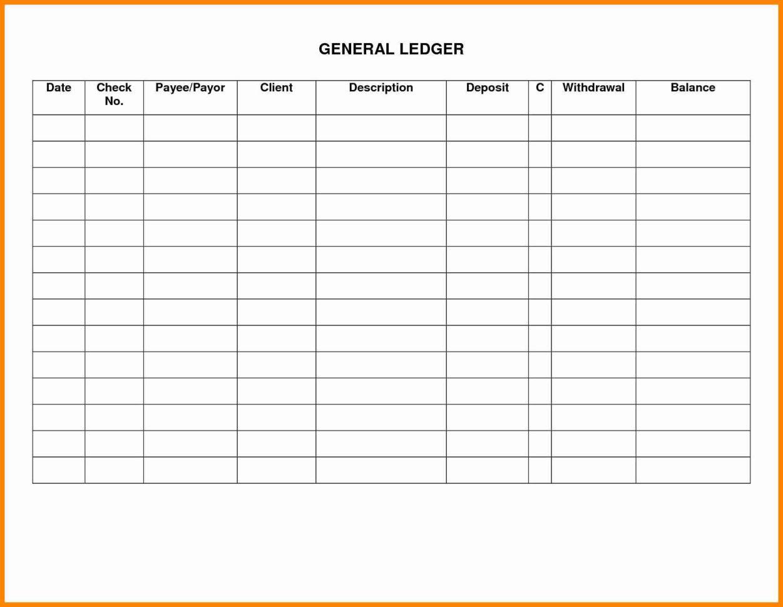 General Ledger Spreadsheet Template Excel Spreadsheet