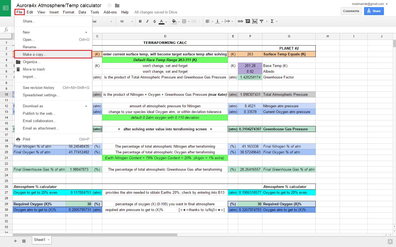 Ghg Calculation Spreadsheet Regarding Terraforming Temp