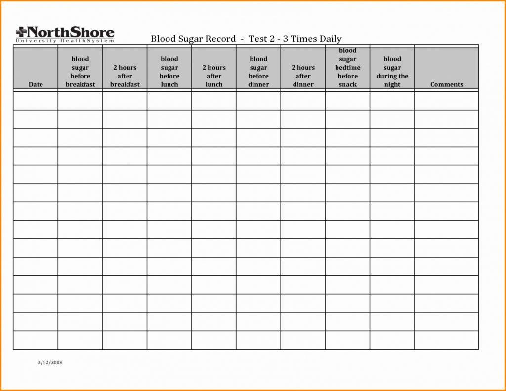 Glucose Tracking Spreadsheet Spreadshee Glucose