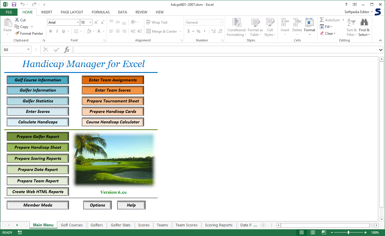 Golf Handicap Excel Spreadsheet Intended For Download