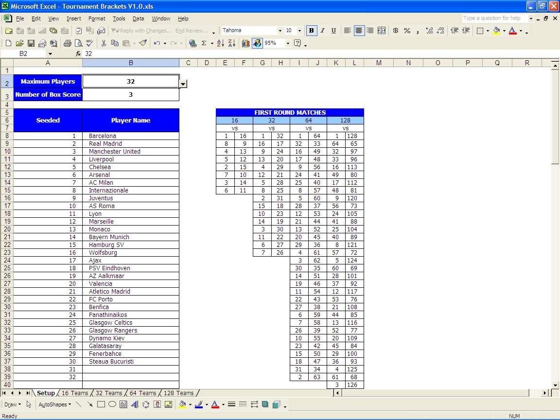 Golf Tournament Excel Spreadsheet Intended For Printable