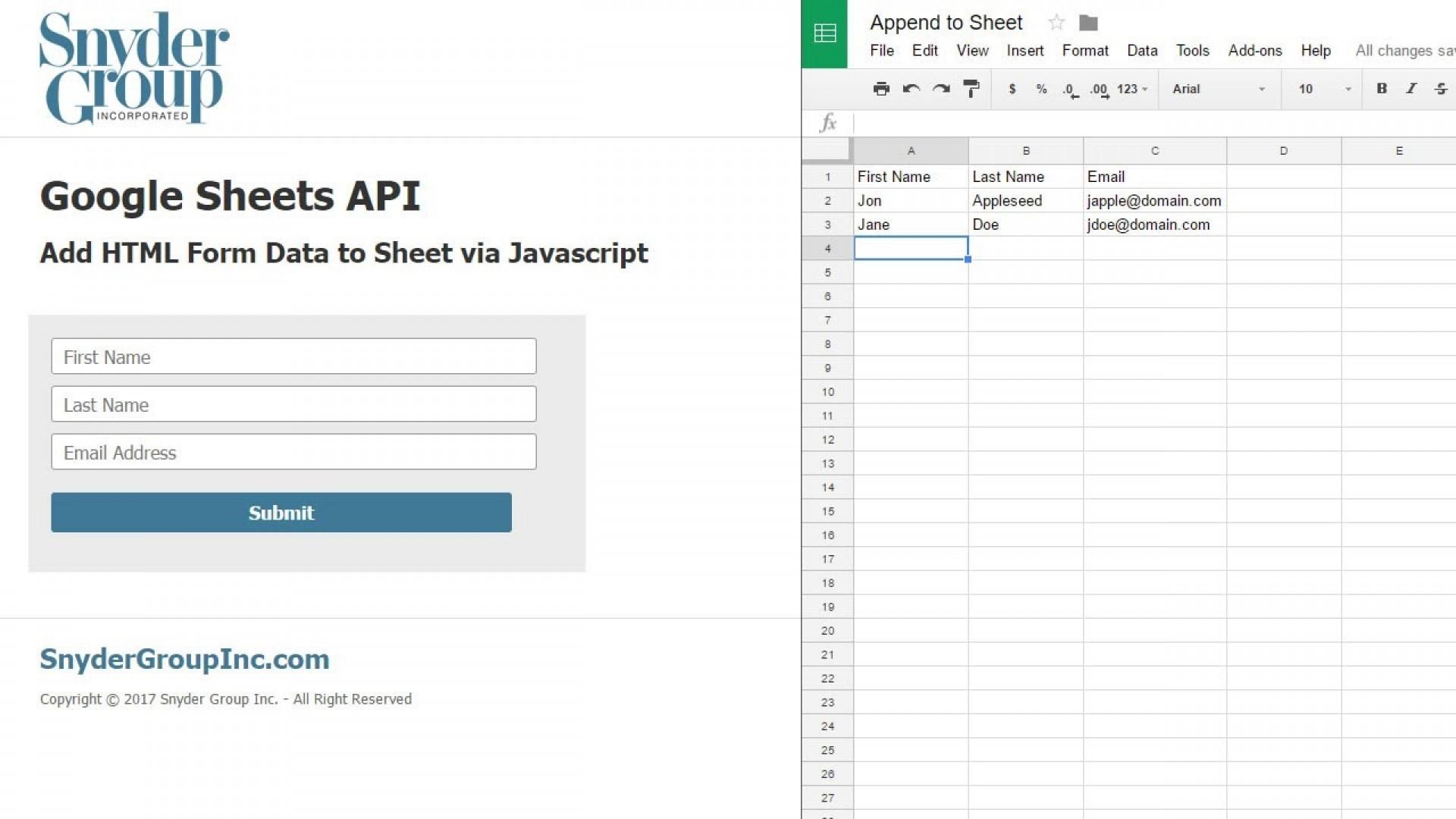 Spreadsheet Api Java Example Pertaining To Forms Api Form Templates Scripts