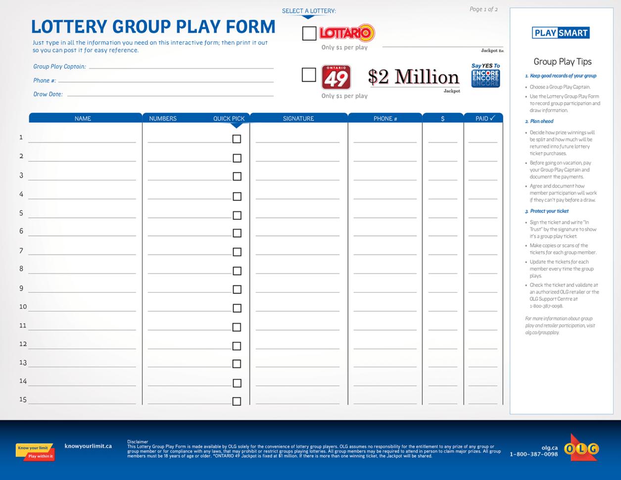 Group Lottery Spreadsheet Printable Spreadshee Group Lottery Tracking Spreadsheet Group Lottery