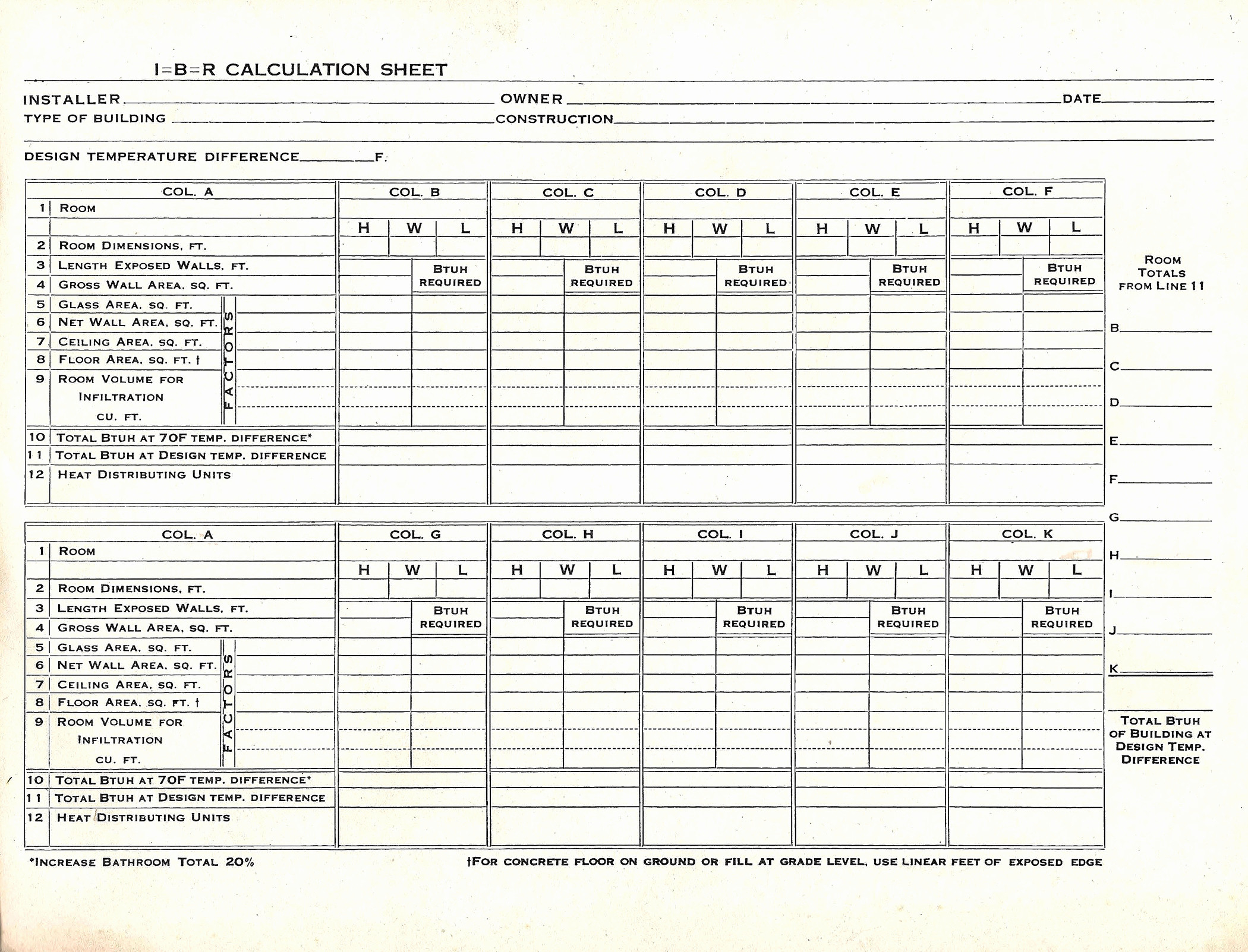 Heat Load Calculation Spreadsheet Printable Spreadshee Heating And Cooling Load Calculation