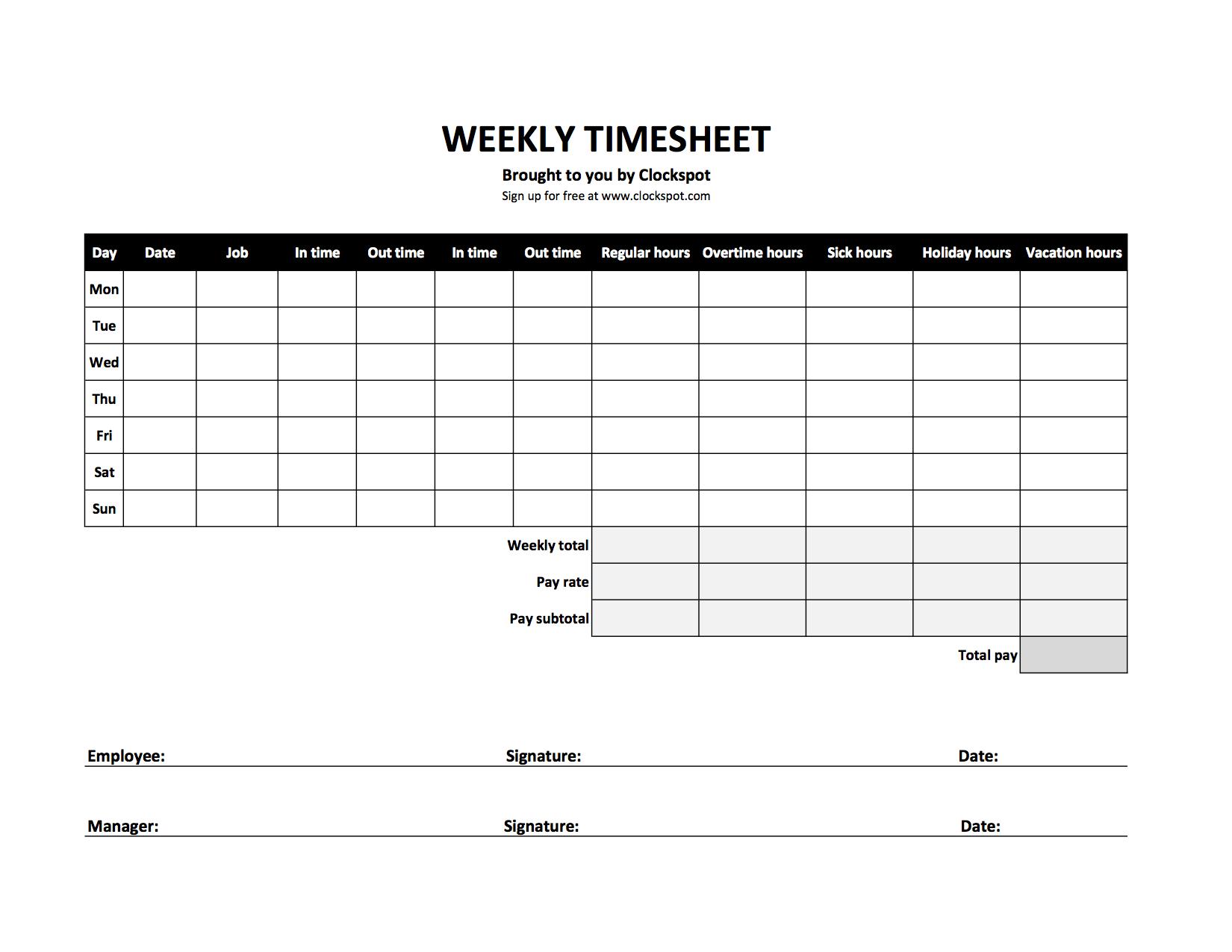 Holiday Pay Calculator Spreadsheet Printable Spreadshee