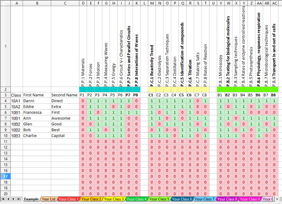 Homework Spreadsheet Pertaining To Homework Spreadsheet