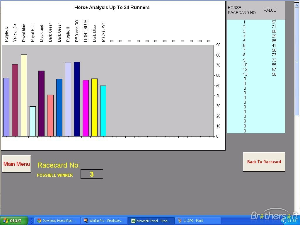 Horse Racing Results Spreadsheet Printable Spreadshee