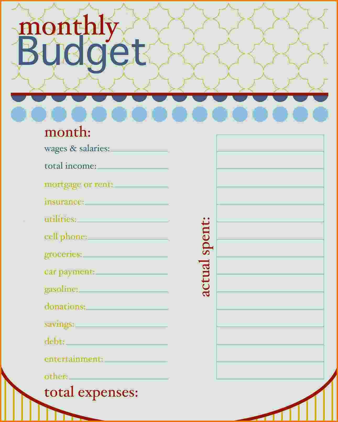 Household Expense Spreadsheet Template Free In Daily