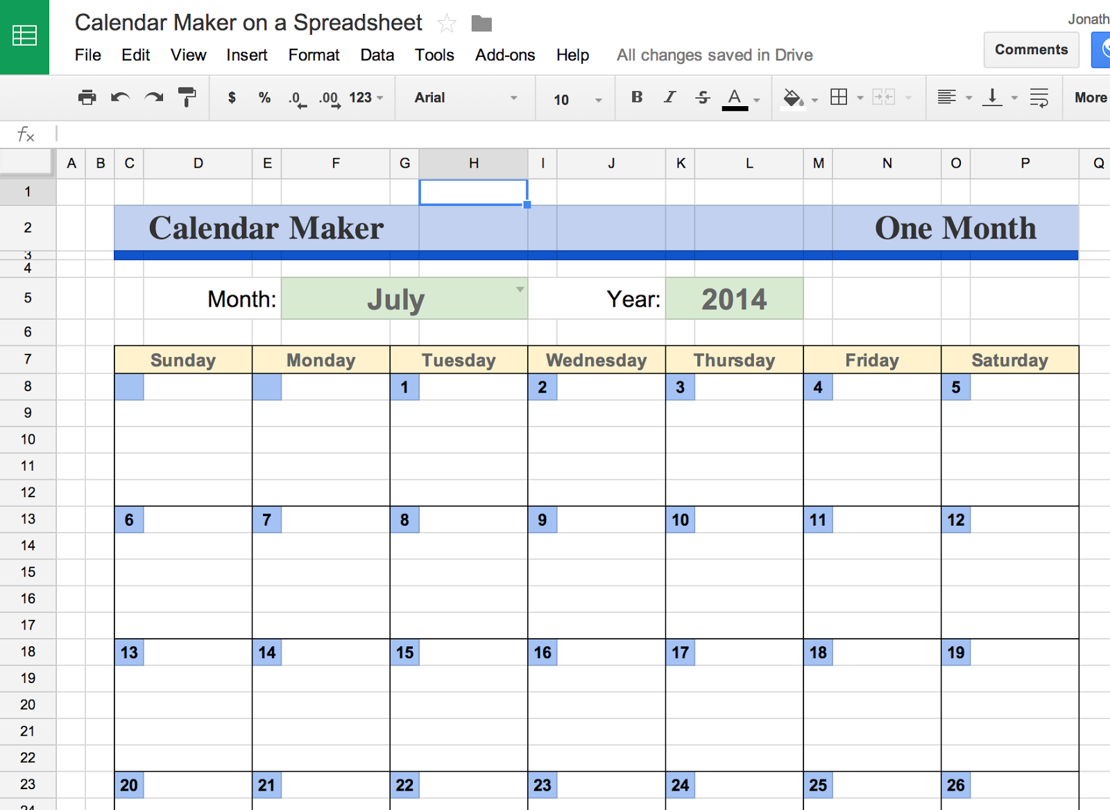 How Do I Make A Spreadsheet In Docs Throughout